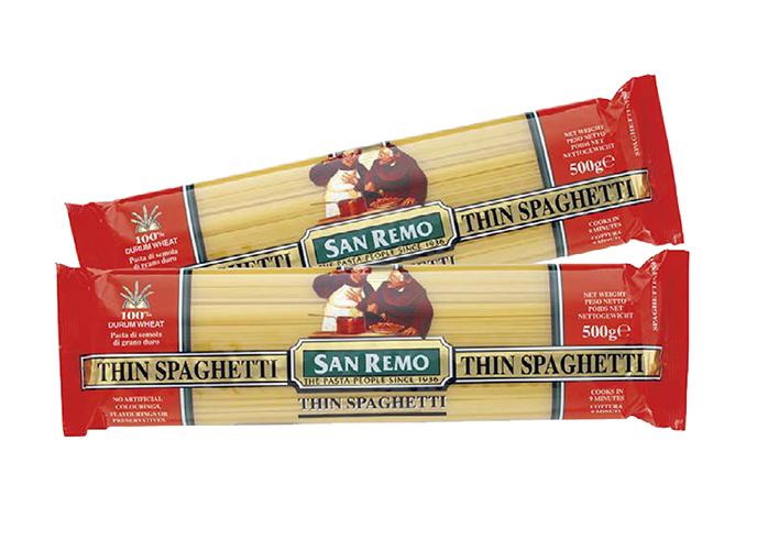 Mì Thin Spaghetti Hiệu San Remo (500G X 12) No. 4