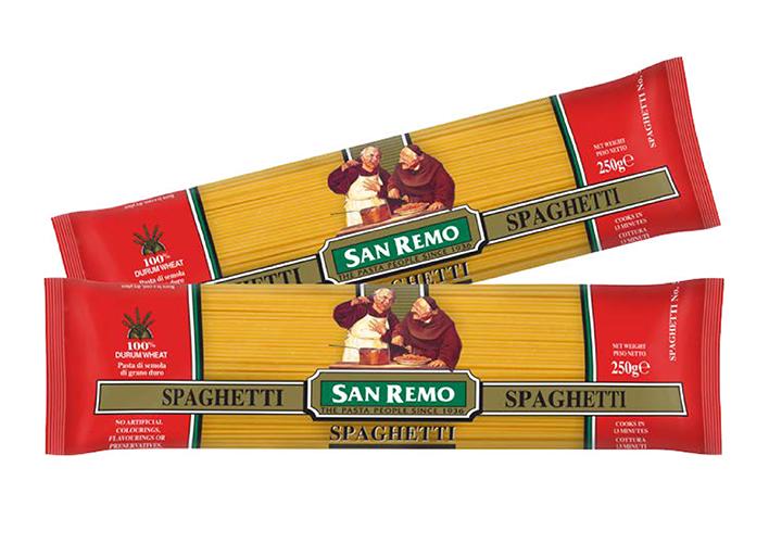 Mì Spaghetti Hiệu San Remo (250G X 24) No. 5