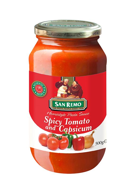 Sốt mì Ý cà chua và ớt chuông San Remo