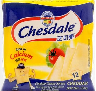 Phô mai lát chesdale vị sữa (24x250g)
