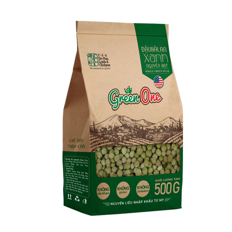 Đậu Hà Lan Xanh Nguyên Hạt Green One 500g