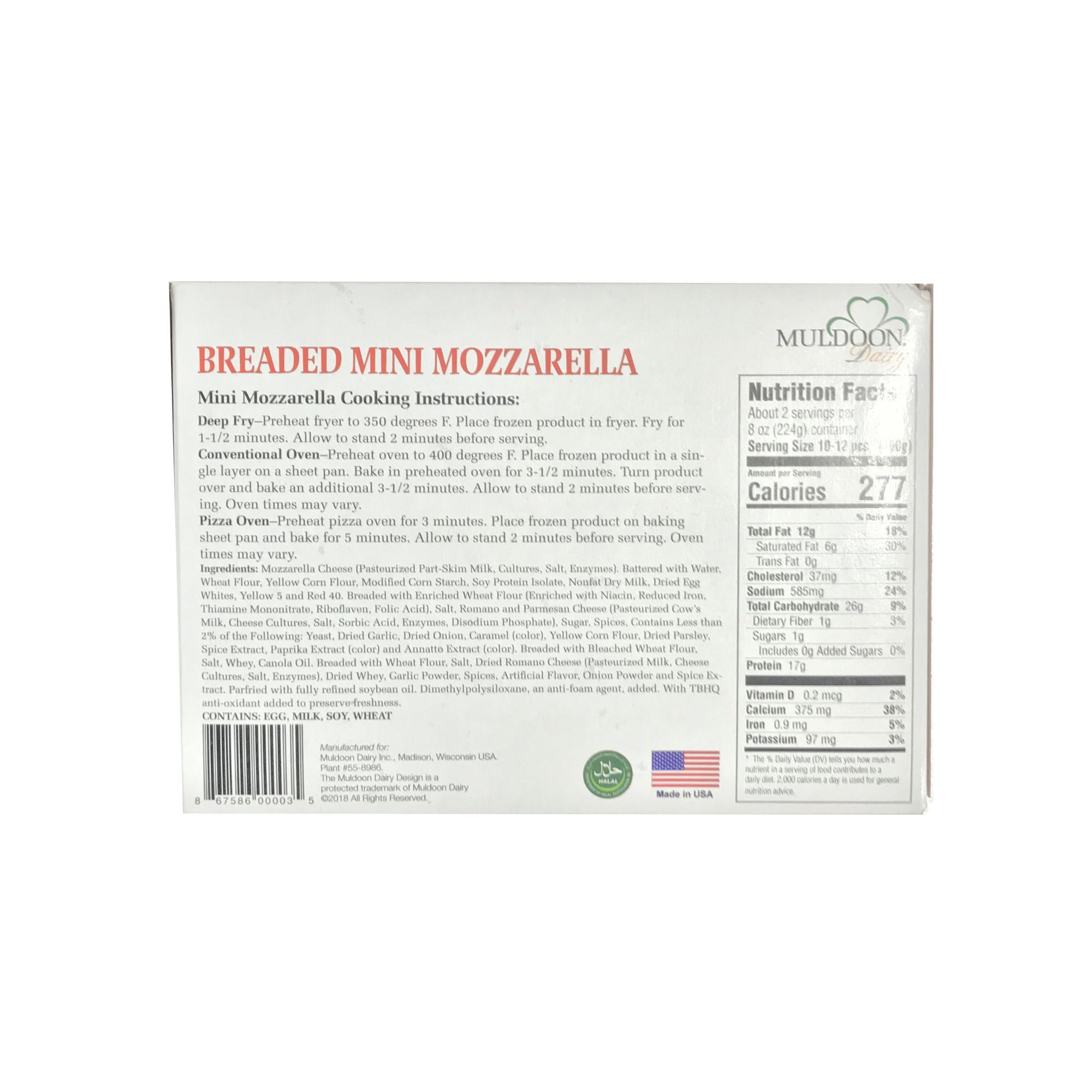 Phomai que Mozzarella mini tẩm bột Muldoon 224g
