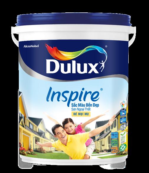 Dulux Inspire Ngoại Thất Sắc Màu Bền Đẹp Bề Mặt Mờ